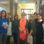 Uczestnicy/uczestniczki projektu z Małgorzatą Kidawą-Błońską, w-ce przewodniczącą Parmanentarnego Klubu PO